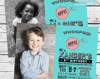 Retro Practical Joke, Gag or April Fool's Birthday Party Photo Invitation