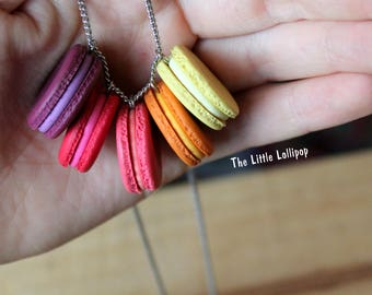 Macaron Necklace Custom Colors - Fimo Food Jewelry