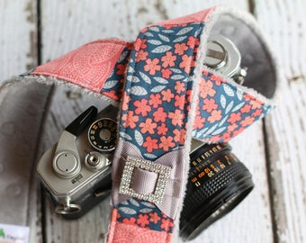 Camera Strap. dSLR Camera Strap. Padded Camera Strap. Floral Camera Strap. Camera Neck Strap. Digital Camera Strap. Cute Camera Strap.