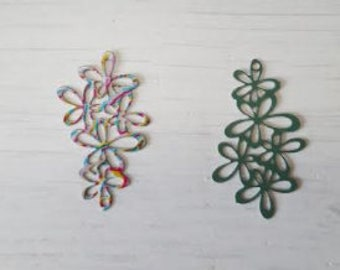 Watermark multicolored Garland of flowers print
