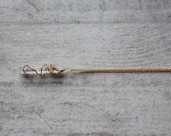 the Harmony Necklace - 14k Gold Fill - Quartz