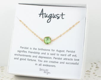 August Birthstone Gold Bracelet, Peridot Gold Bracelet, August Birthday Bracelet, Gold Bracelet, August Birthday Bracelet, Gifts Under 20