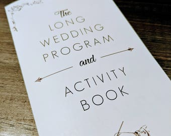 Wedding Program and Activity Book