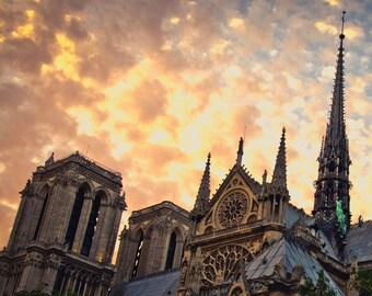Placemat / blotting pad laminated Notre Dame de Paris