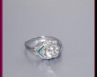 Art Deco Engagement Ring Antique Engagement Ring Vintage Ring Stavitement Ring Alternative Ring Art Deco Ring Filigree Ring Platinum Dainty
