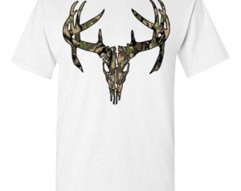 Deer Skull Camo-White