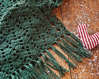 Crochet PATTERN - Christmas Lace Shawl