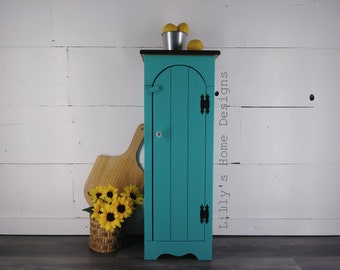 Painted Cabinet / Hand Painted / Storage Cabinet / Jelly Cabinet /  Primitive Furniture / Farmhouse
