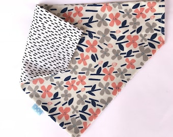 "Reversible ""Petals"" Dog Bandanna"