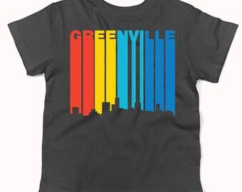 Retro 1970's Style Greenville South Carolina Skyline Infant / Toddler T-Shirt