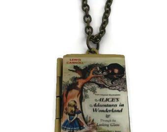 Alice in Wonderland Book Locket Necklace