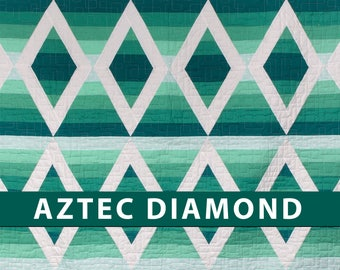 Aztec Diamond, Krista Moser, The Quilted Life, Modern Quilt Pattern, Printed