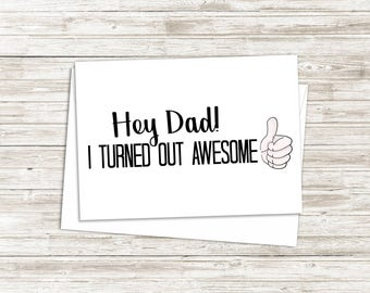 Funny Fathers Day Card - Card For Dad - Funny Dad Card -Birthday Card for Dad - Father's Day Gift - Card from Son - Card from Daughter