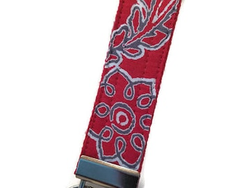 Red Bandana Print Key Fob