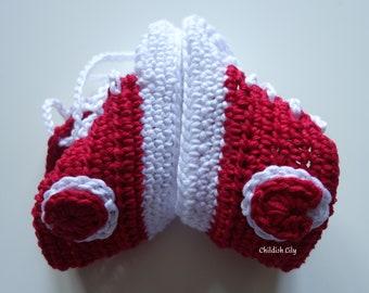I <3 Baby Sneakers - Crochet Baby Sneakers