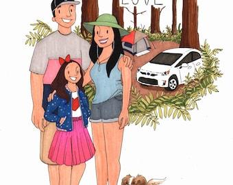 PLUS Cartoon Family Portrait