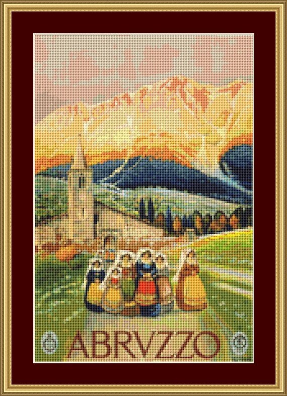 Abrvzzo Cross Stitch Pattern /Digital PDF Files /Instant downloadable