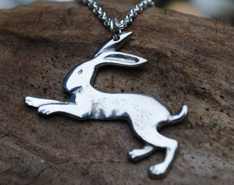 Pewter Hare Pendant