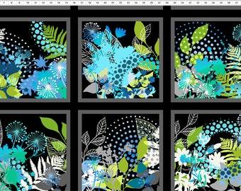 "Unusual Garden Fabric PANEL; 23"" x Width; 3UG2; In the Beginning Fabrics; Floral Fabric; Jason Yenter; Quilt, Craft, Decor"
