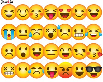 40 Emoji Clipart, Emoji Clip art, Smiley Face Emoji Clipart, feelings clipart, Face Emoticons, clipart, Emoji clip art images,Emoji Face
