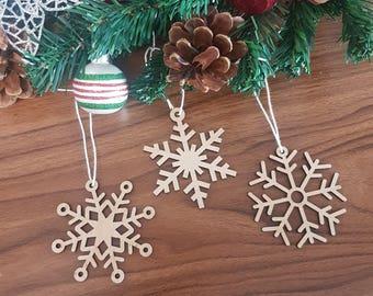 Christmas Ornaments, Snowflake Christmas Ornament, Wood Ornaments, Personalized Ornaments, Christmas decoration, Christmas gift