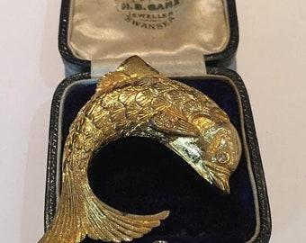 Vintage Fish brooch, costume piece.