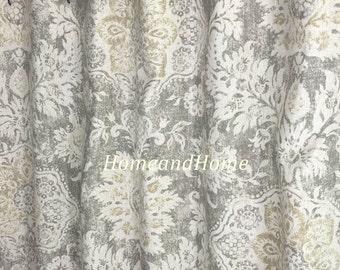 Extra Long Shower Curtain Grey Belmont Mist Beige Cream 72 X84 108