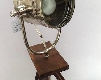 Vintage Tripod Camera Floor Lamp/ Spotlight Tripod  Custom Made Lamp