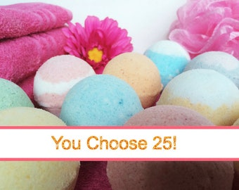 25 Bath Bombs FREE SHIPPING Bath Bombs Wholesale, Bulk Bath Bombs Favors, Bath Bomb, Bath Fizzies. Coconut Oil, Epsom Salt, Shea Butter