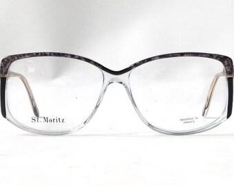 vintage. 80s. glasses. vintage glasses. mens. womens. oversized glasses. plastic. pink. mother of pearl. black. eye glasses. cazal glasses.