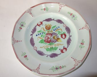 Adams Calyx Ware Hand Painted 10 inch plate