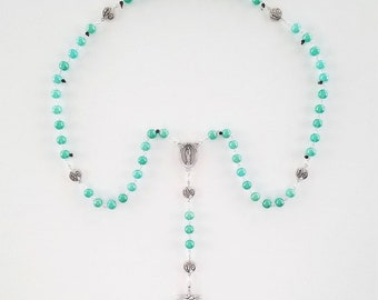 Teal Pearlized Rosary
