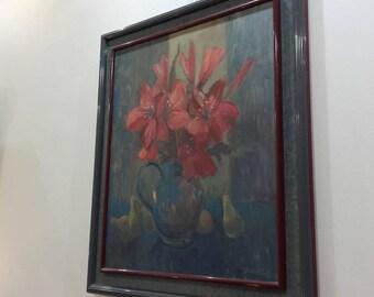 """Canvas Henri Dohet """"amaryllis"""""""