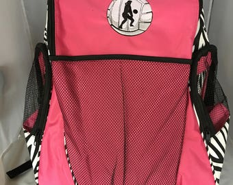 Sturdy Volley ball Back Pack, Great Colors! Mesh Front to Carry Volley ball, Large side pockets, 3 Colors, and Personalization