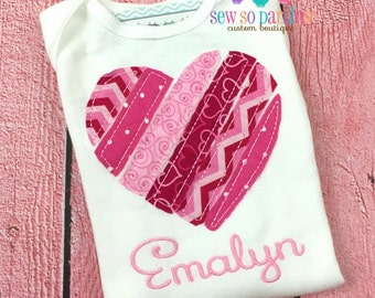Valentine Baby Girl Outfit - Valentine Heart Girl Shirt - Valentines girl outfit