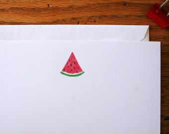 Flat note cards, Note cards, All occasion flat note cards, Watercolor note cards, watermelon note cards, Correspondence, Stationery