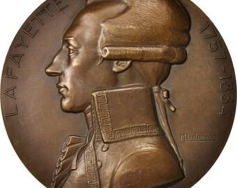 france medal paquebot lafayette shipping 1930 delannoy au(55-58) bronze