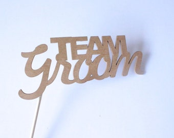 Team Groom Photo Props | Wedding sign | Photo Booth Wedding | Wedding Signage | Wedding Party Props | Wedding Speech Props | Photo Booth