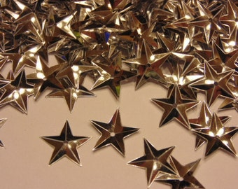 40 count bag of silver color star sequins, 15 mm (1)+