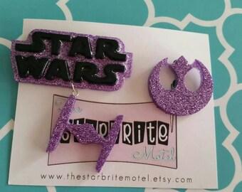 Galactic brooch set, customizable colorways