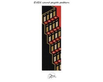 handmade bracelet STEPS peyote pattern