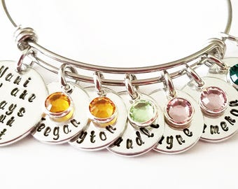 Nana Bracelet - Personalized Grandma Bracelet, Nana Gift, Grandma gift, personalized Nana bracelet, Mother's Day gift for Nana
