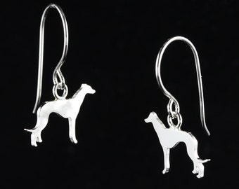 Greyhound Sterling Silver Dog Silhouette Dangle Earrings
