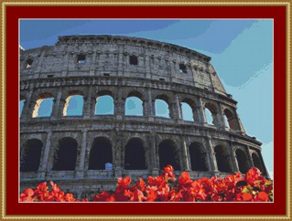 Colosseum Cross Stitch Pattern /Digital PDF Files /Instant downloadable