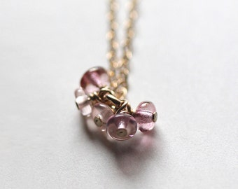 love story - bead cluster necklace
