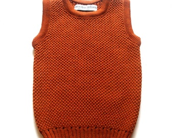 Babies/Children's merino wool Vest/toddlers/gilet/sweater/tank top/waistcoat/round neck/jumper/sweater/sleeveless cardigan