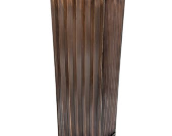 Large Ribbed Planter, H Potter, Tall Outdoor Indoor Planter, Antique Copper Finish, Patio, Deck, Flower Garden Planters, Garden Gift