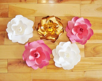 Paper Flowers 5 Mini Gardenias - Baby Nursery | Flower Wall | Home Decor | Paper Flowers Wedding | Baby Room Decorations | Wedding Flowers