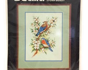 Counted Cross Stitch - Blue Birds - Bucilla