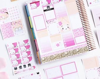 STICKER KIT // Cherry Blossoms Kit [Cherry Blossom Stickers, Pink Sticker Kit, Pastel Sticker Kit] - S370-377